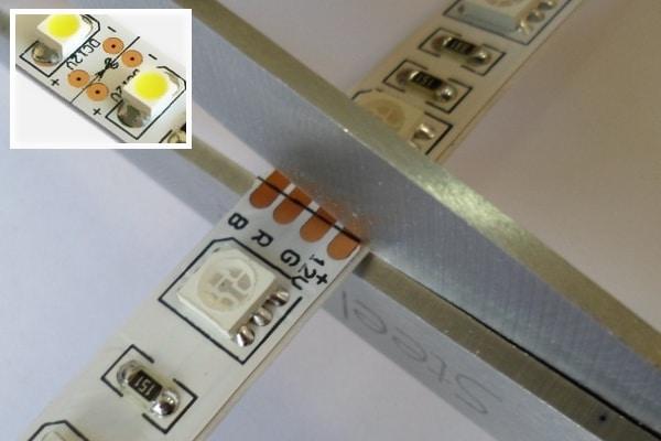 Разрезать светодиодную ленту
